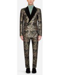 Dolce & Gabbana Lamé Jacquard Double-Breasted Tuxedo Suit - Mehrfarbig