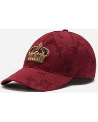 Dolce & Gabbana Cappello Da Baseball Jacquard Con Patch - Rosso