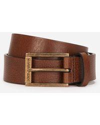 Dolce & Gabbana Tumbled Leather Belt - Braun