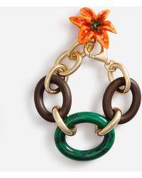 Dolce & Gabbana Gliederarmband Mit Lilien-Zierelement - Mettallic