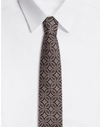 Dolce & Gabbana Tie-Print Silk Jacquard Blade Tie (6 Cm) - Braun