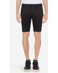 Dolce & Gabbana Stretch Cotton Bermuda Shorts - Schwarz