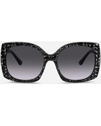 Dolce & Gabbana Sonnenbrille Print Family - Schwarz