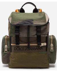 Dolce & Gabbana - Mochila Militar De Tela - Lyst