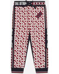 Dolce & Gabbana Jogginghose Aus Jersey Print Dg Logo - Mehrfarbig