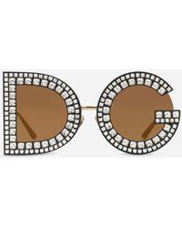 Dolce & Gabbana Sonnenbrille Dg Glitter - Schwarz
