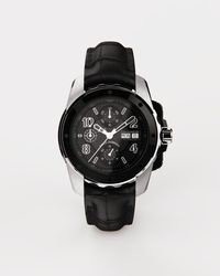 Dolce & Gabbana Ds5 Watch In White Gold And Steel With Pvd Coating - Black
