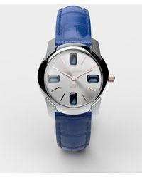 Dolce & Gabbana Uhr Mit Armband Aus Alligatorleder - Blau