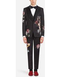 Dolce & Gabbana - Traje De Esmoquin Con Bordado - Lyst