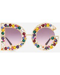 Dolce & Gabbana Sonnenbrille Dg Crystal - Mehrfarbig
