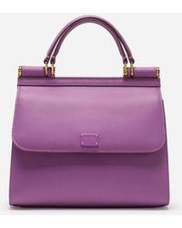 Dolce & Gabbana Kleine Sicily 58 Tasche Aus Kalbsleder - Lila