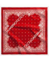 Dolce & Gabbana - Printed Cotton Bandana - Lyst