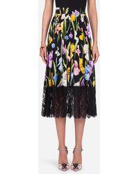 Dolce & Gabbana - Floral Flared Skirt - Lyst