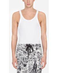 Dolce & Gabbana - Camiseta Sin Mangas De Algodón - Lyst