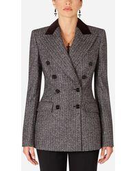 Dolce & Gabbana Double-Breasted Tweed Blazer - Multicolore