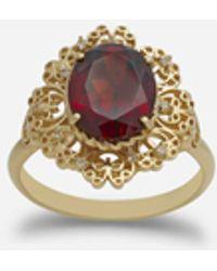 Dolce & Gabbana Ring Barock Aus Gelbgold Mit Rhodolith-Granat - Mettallic