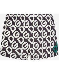 Dolce & Gabbana Jersey Boxers With Dg Logo Print - Black