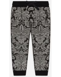 Dolce & Gabbana Pantalones De Chándal De Jacquard Lúrex - Gris