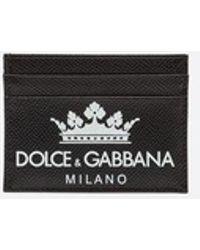 Dolce & Gabbana - Credit Card Holder In Printed Dauphine Calfskin - Lyst