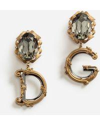 Dolce & Gabbana Ohrhänger Mit Dekorativen Elementen - Mettallic