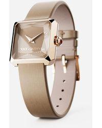 Dolce & Gabbana Reloj De Oro Con Pulsera De Seda - Neutro
