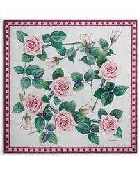 Dolce & Gabbana Tropical Rose Print Twill Foulard 90 X 90 - Multicolor