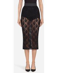 Dolce & Gabbana Lace Skirt - Nero