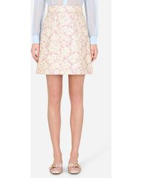Dolce & Gabbana Short Lamé Jacquard Skirt - Multicolore