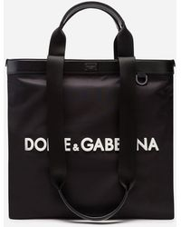 Dolce & Gabbana Logo Shopping Tote - Black