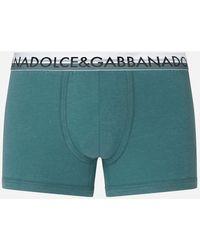 Dolce & Gabbana Stretch Pima Cotton Boxers - Azul