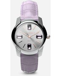 Dolce & Gabbana Watch With Alligator Strap - Lila