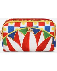 Dolce & Gabbana Carretto-print Nylon Make-up Bag - Red