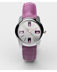 Dolce & Gabbana Watch With Alligator Strap - Pink