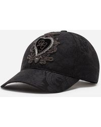 Dolce & Gabbana Dg Patch Jacquard Baseball Cap - Black