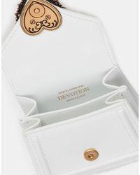 Dolce & Gabbana Micro Bolso Devotion De Becerro Liso - Blanco