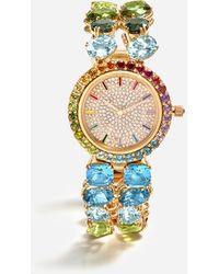 Dolce & Gabbana Uhr Mit Mehrfarbigen Edelsteinen - Mettallic