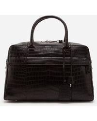 Dolce & Gabbana Crocodile Skin Travel Bag - Nero
