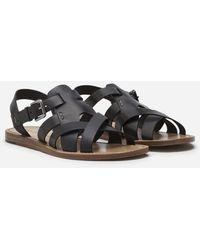 Dolce & Gabbana Calfskin Sandals - Schwarz