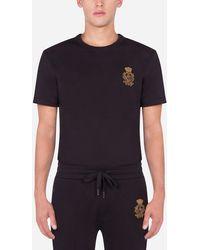 Dolce & Gabbana T-Shirt mit Stickerei - Schwarz