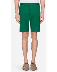 Dolce & Gabbana Stretch Cotton Bermuda Shorts - Grün
