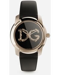 Dolce & Gabbana Dg7 Barocco Watch With Black Satin Strap - Schwarz