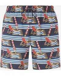 Dolce & Gabbana - Medium Swimming Trunks With Sunlounger Print - Lyst