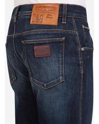 Dolce & Gabbana Stretch Washed Style Jeans - Blau