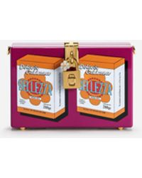 Dolce & Gabbana - Dolce Box Clutch In Printed Lacquered Wood - Lyst