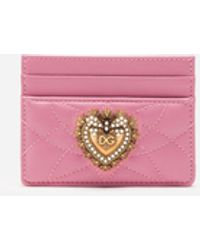 Dolce & Gabbana Devotion Credit Card Holder - Pink