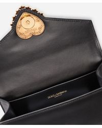 Dolce & Gabbana Devotion Fanny Pack In Plain Calfskin - Black