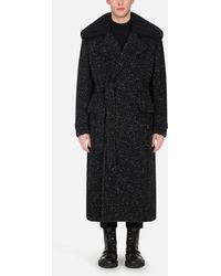 Dolce & Gabbana Belted Double-Breasted Coat - Schwarz