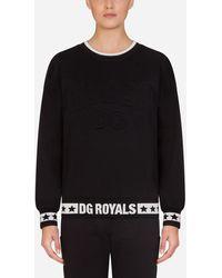 Dolce & Gabbana - Millennials Star Jersey Crew Neck Sweatshirt - Lyst
