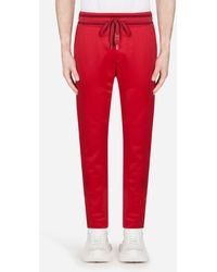 Dolce & Gabbana Jogging Pants With Patch - Red