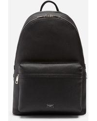 Dolce & Gabbana Calfskin Vulcano Backpack - Nero